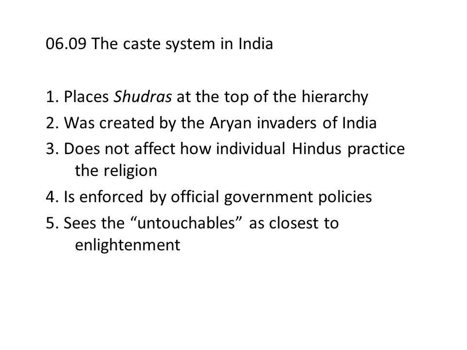 06.09 The caste system in India