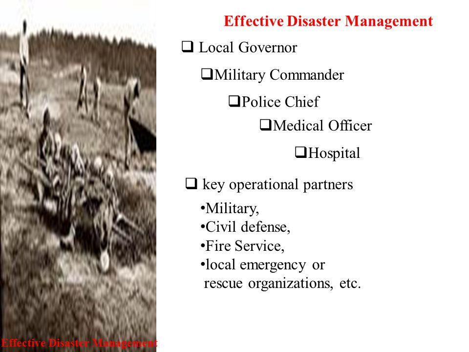 Effective Disaster Management