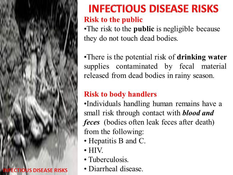 INFECTIOUS DISEASE RISKS INFECTIOUS DISEASE RISKS