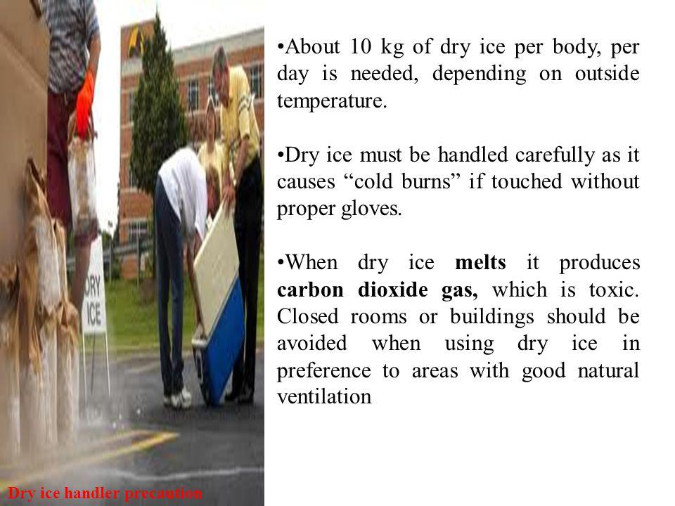 Dry ice handler precaution