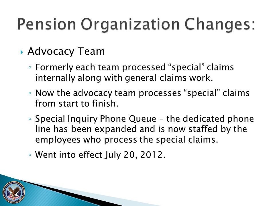 Pension Organization Changes: