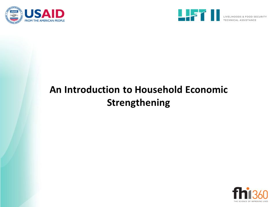An Introduction to Household Economic Strengthening