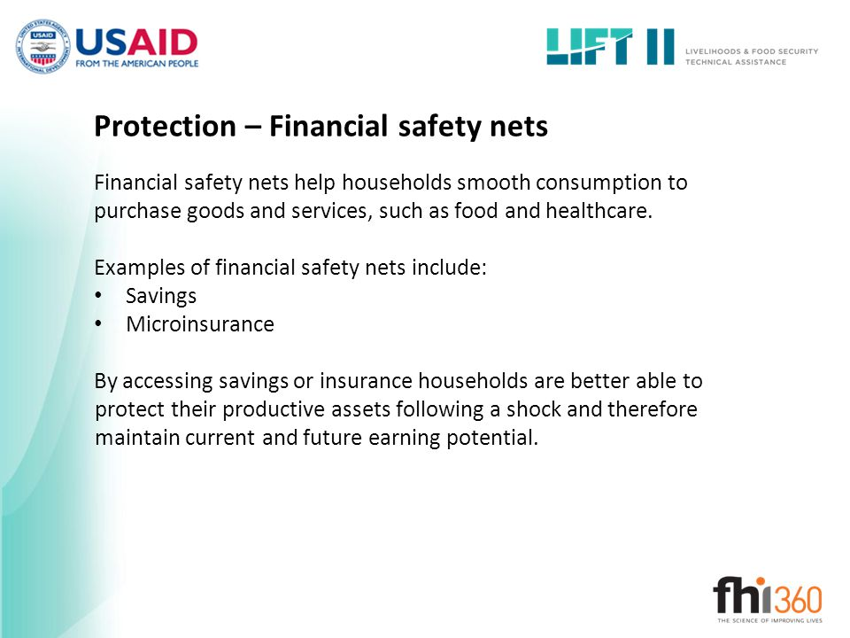 Protection – Financial safety nets