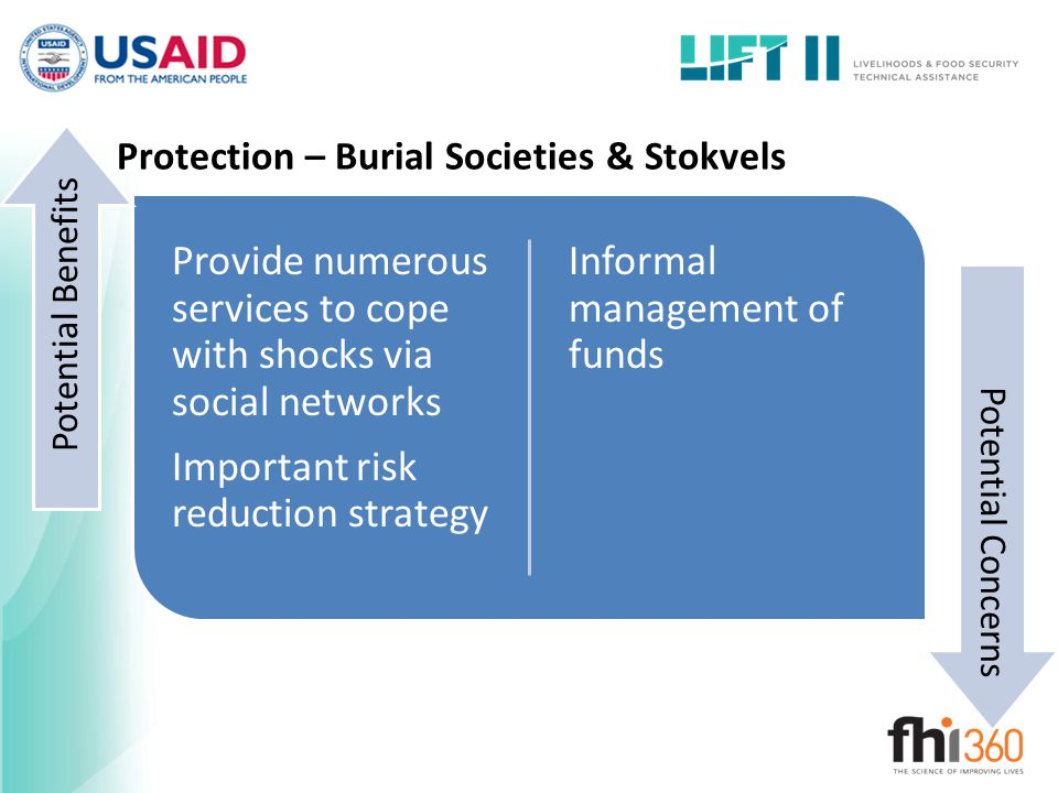 Protection – Burial Societies & Stokvels