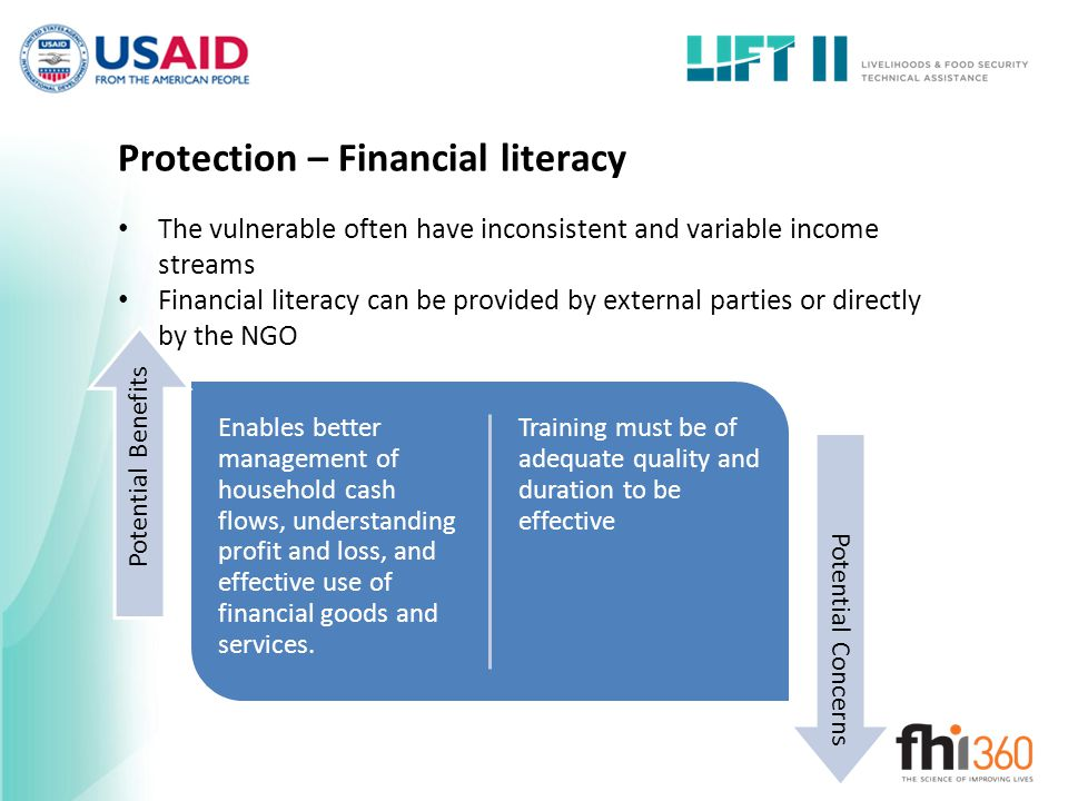 Protection – Financial literacy