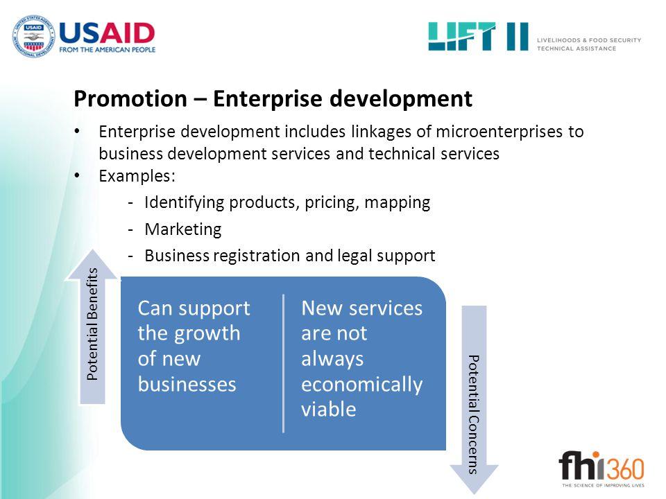 Promotion – Enterprise development