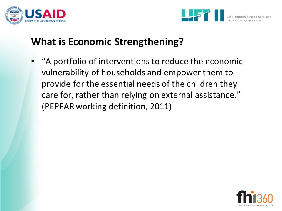 What is Economic Strengthening