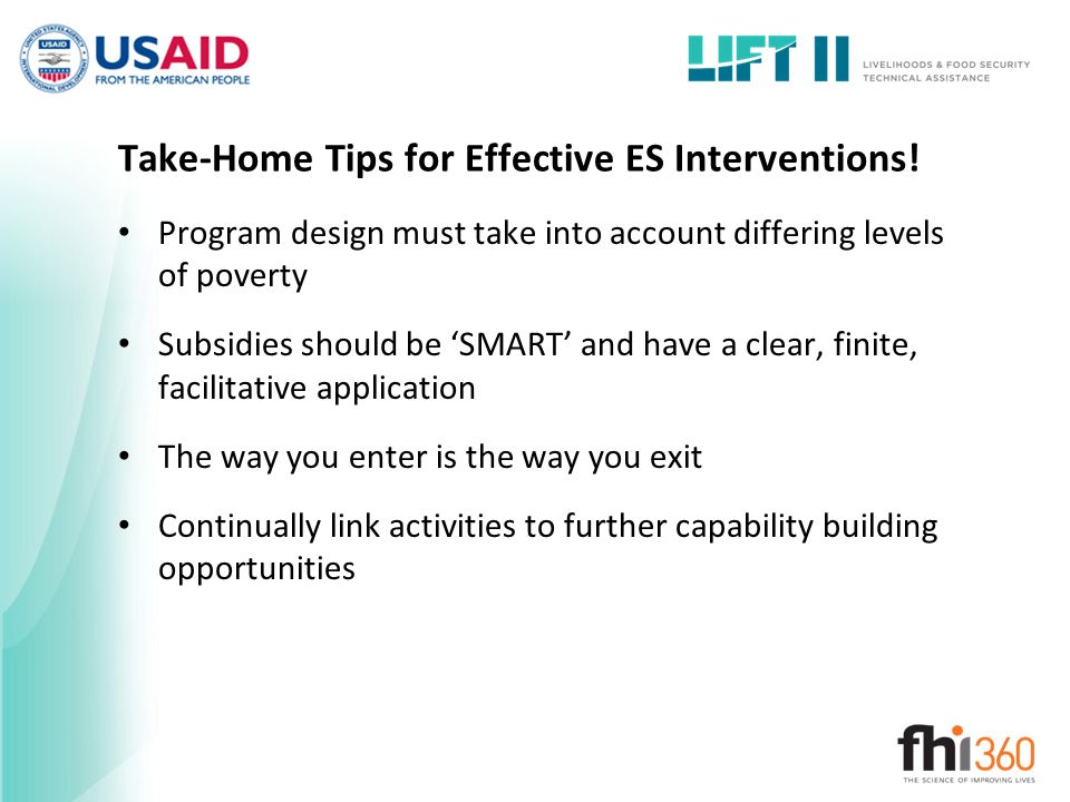Take-Home Tips for Effective ES Interventions!