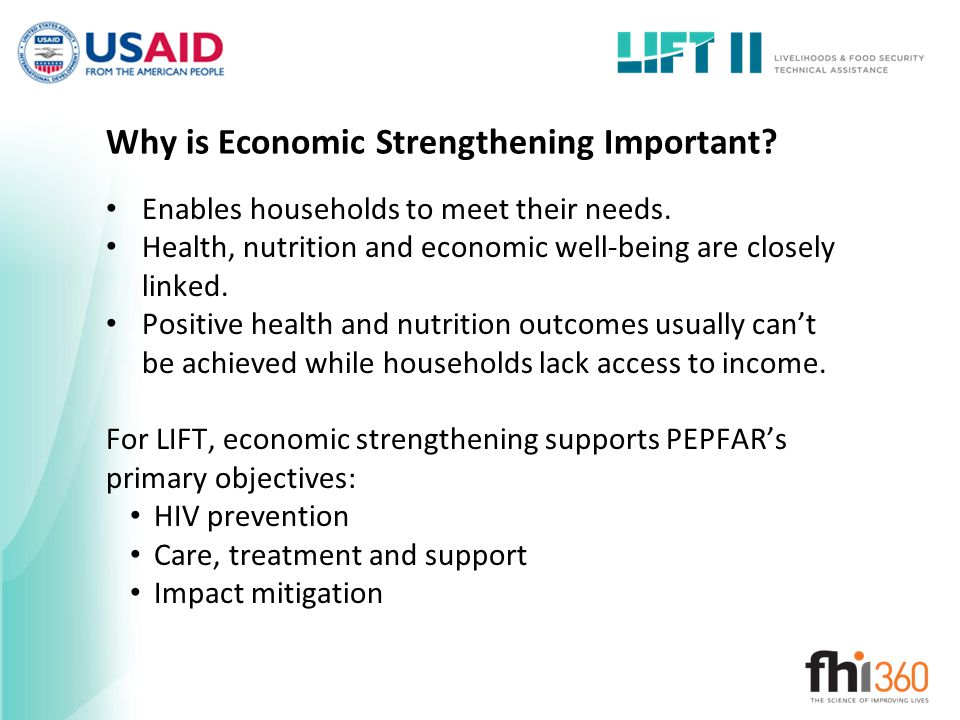 Why is Economic Strengthening Important