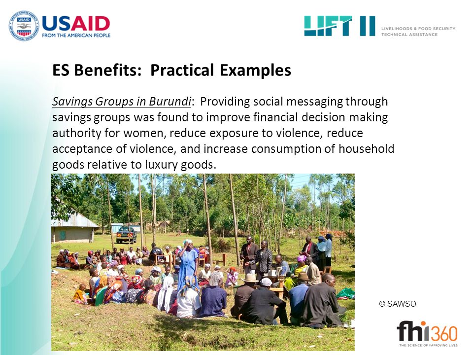 ES Benefits: Practical Examples