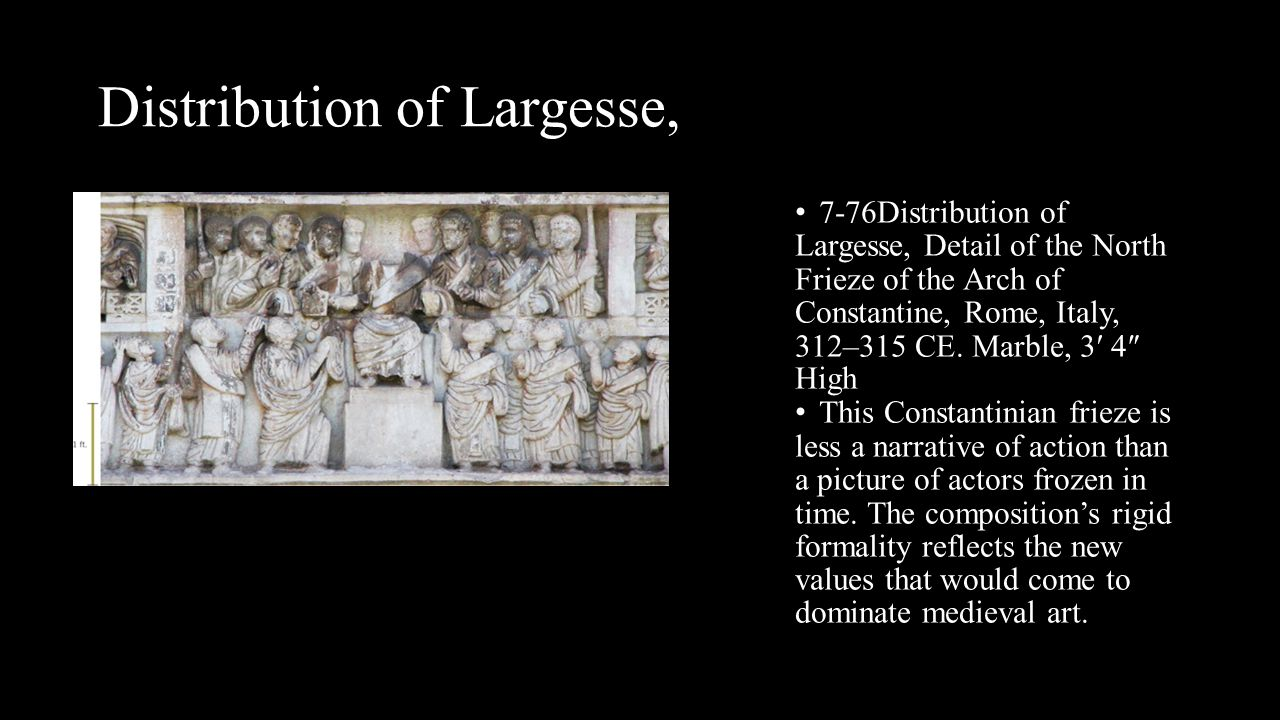 Distribution of Largesse,