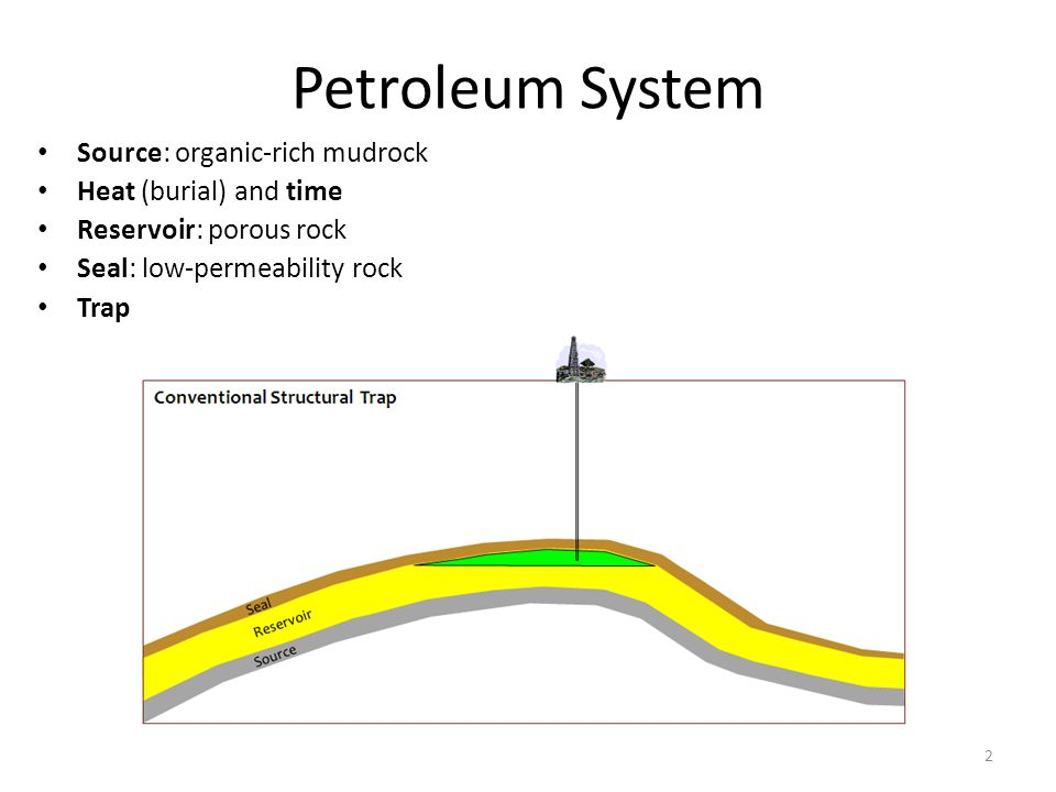 Petroleum System Source: organic-rich mudrock Heat (burial) and time