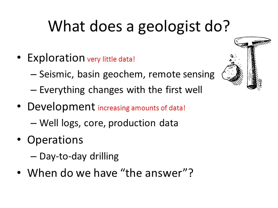 What does a geologist do