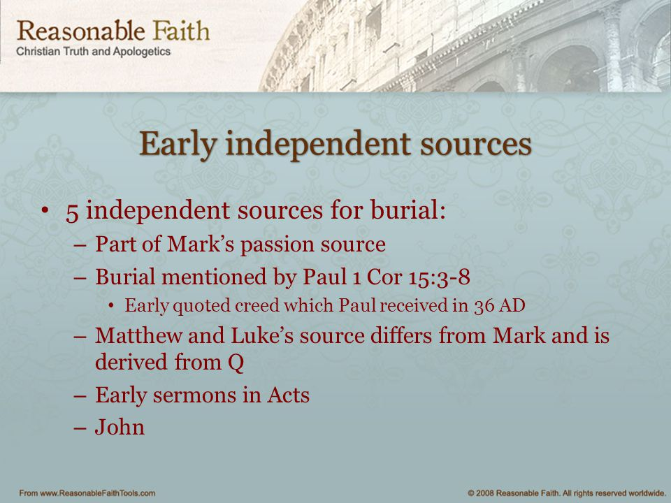 Early independent sources