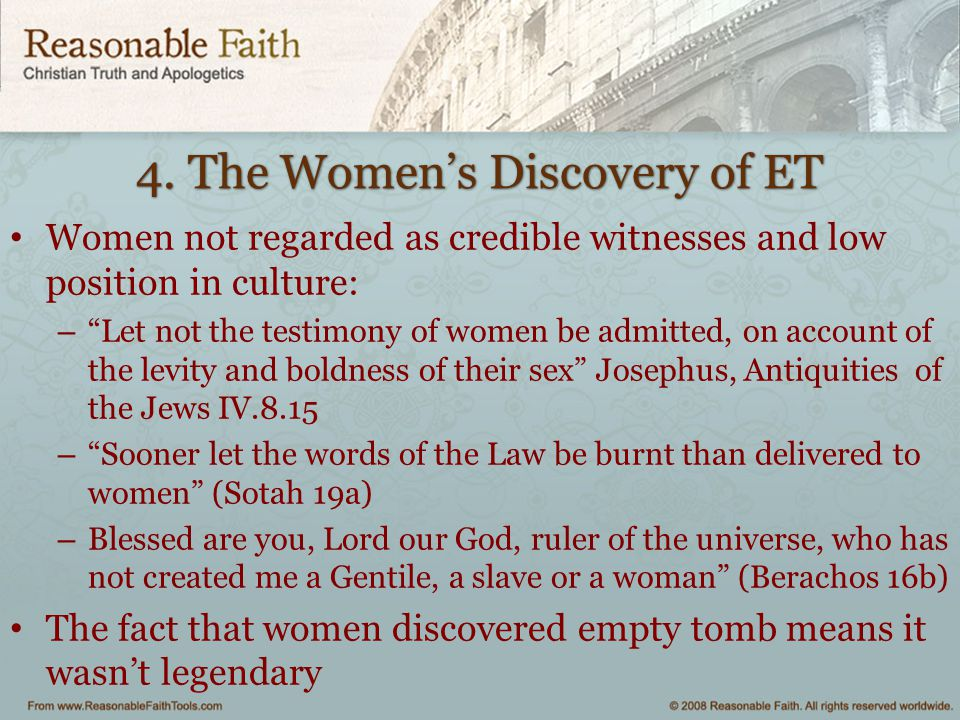 4. The Women's Discovery of ET