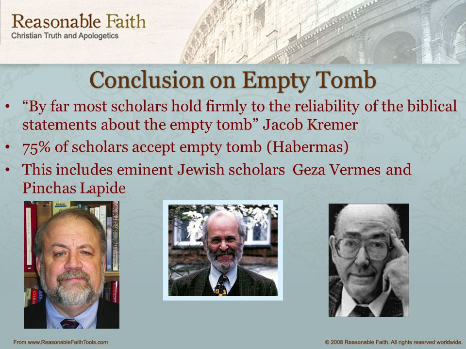 Conclusion on Empty Tomb
