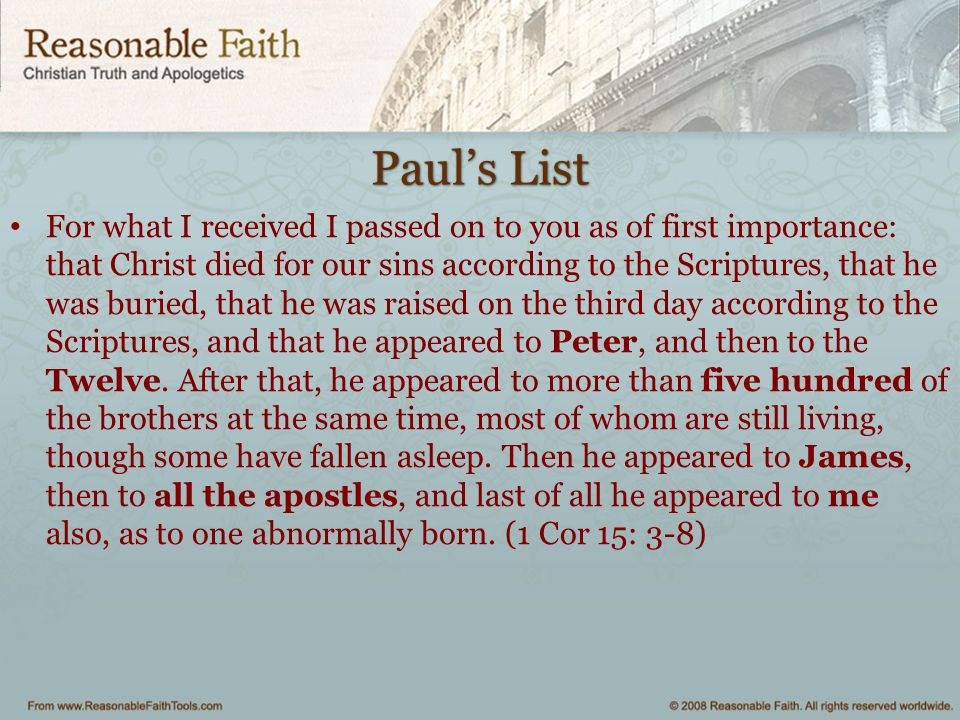Paul's List