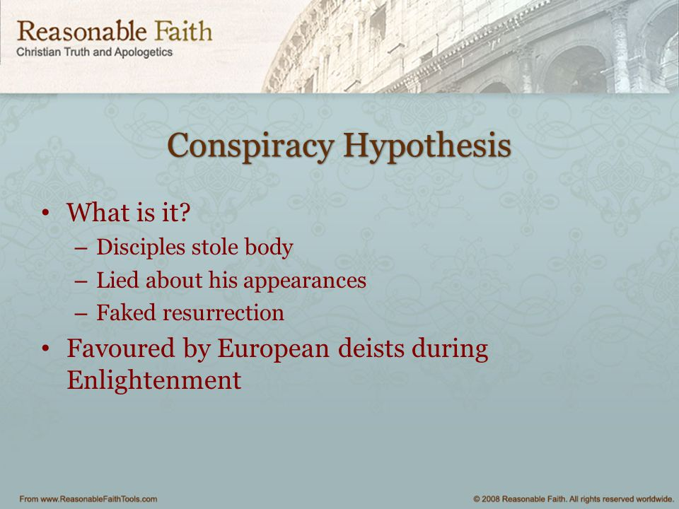Conspiracy Hypothesis