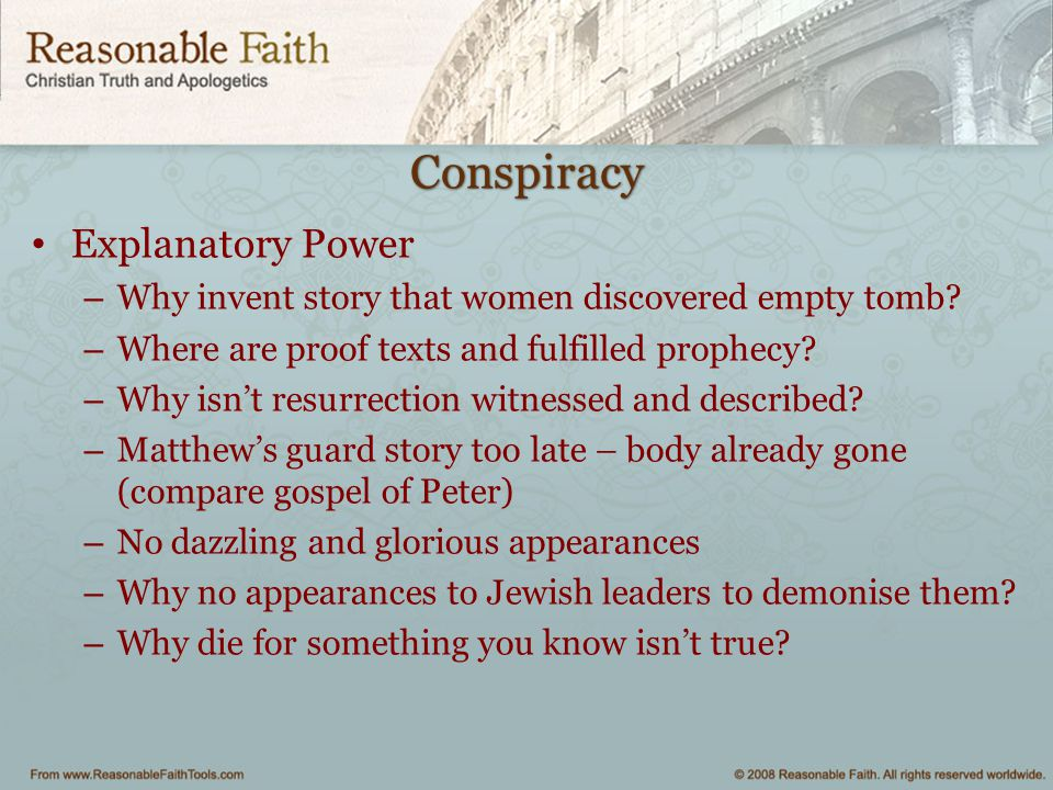 Conspiracy Explanatory Power