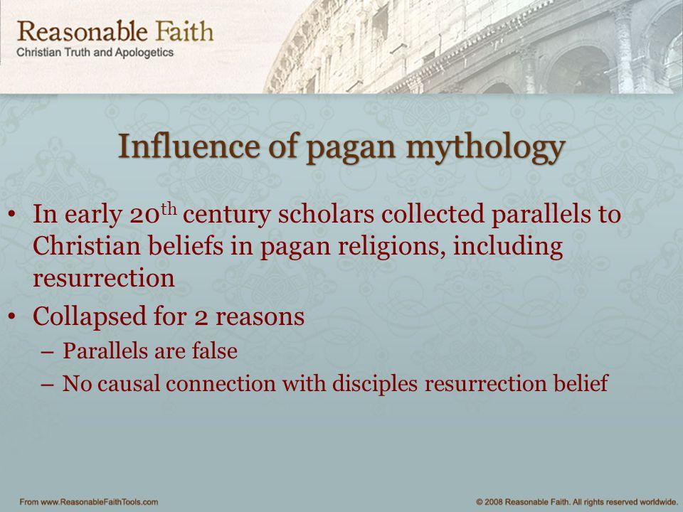 Influence of pagan mythology