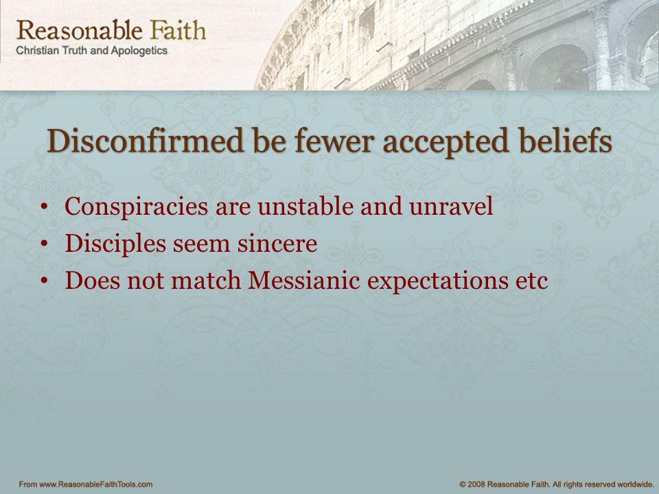 Disconfirmed be fewer accepted beliefs