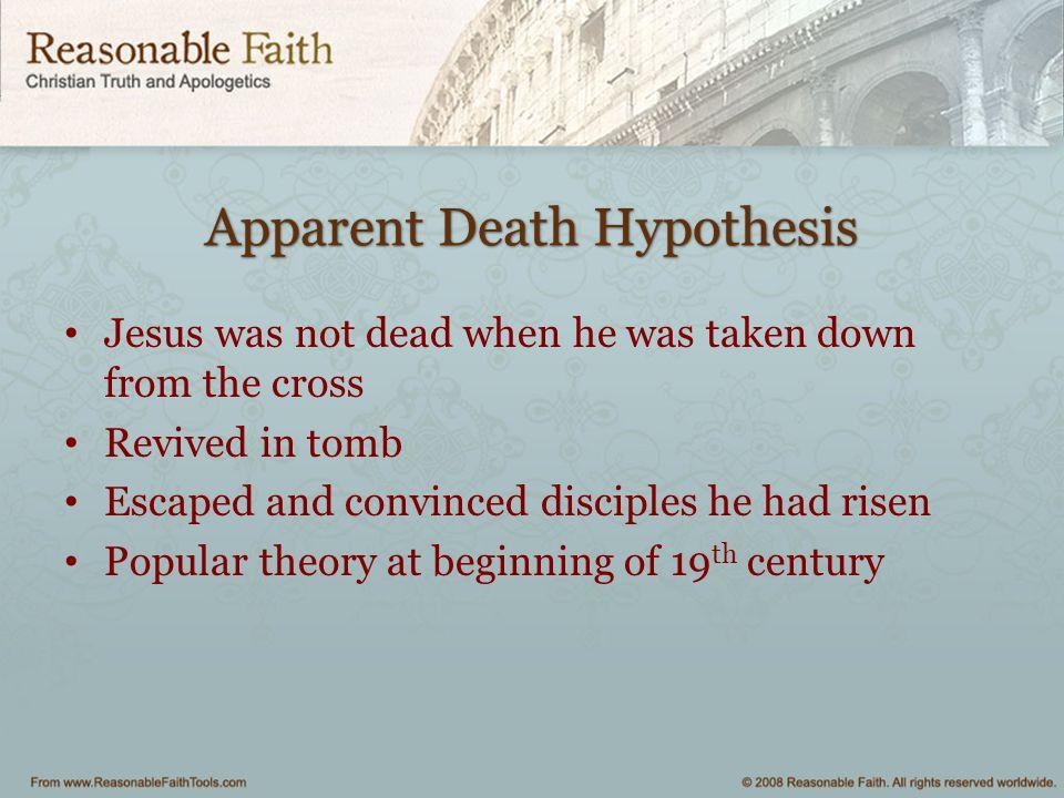 Apparent Death Hypothesis
