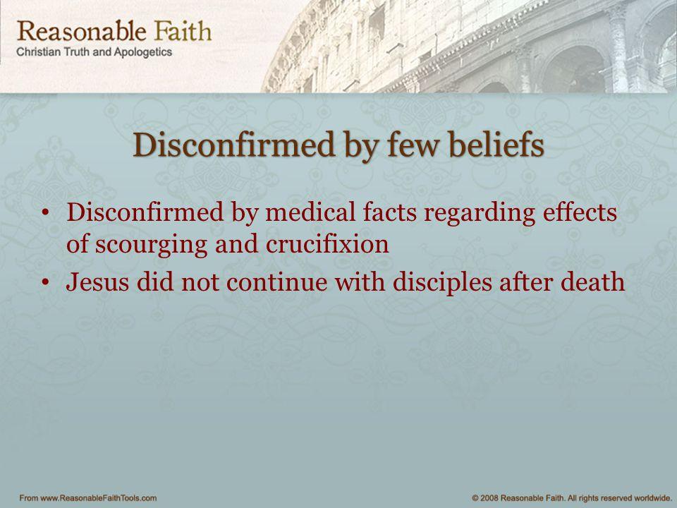Disconfirmed by few beliefs