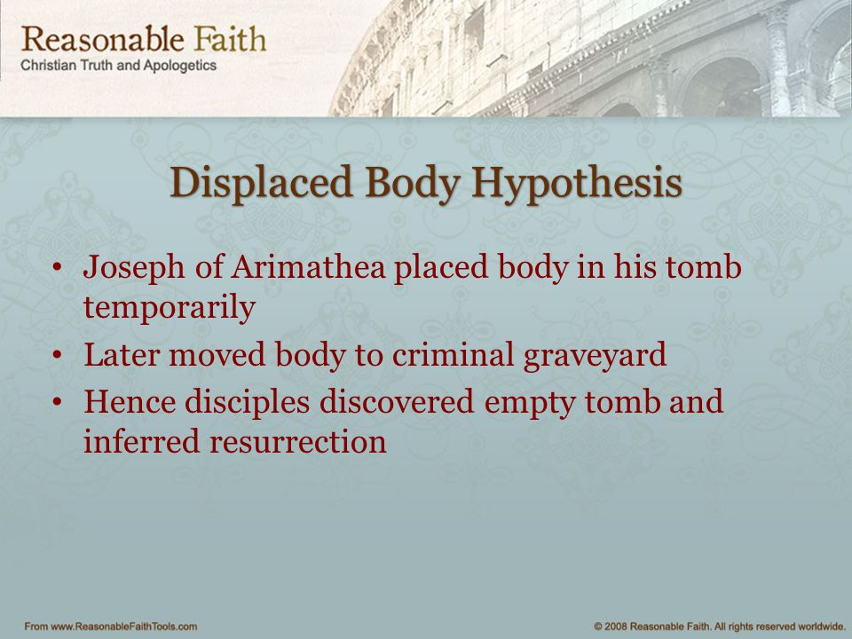 Displaced Body Hypothesis
