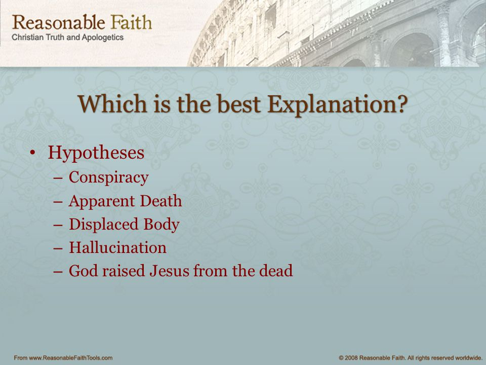 Which is the best Explanation