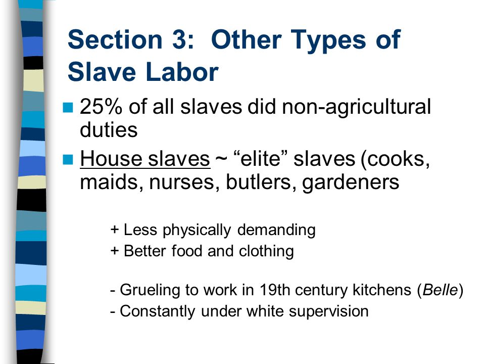 Section 3: Other Types of Slave Labor