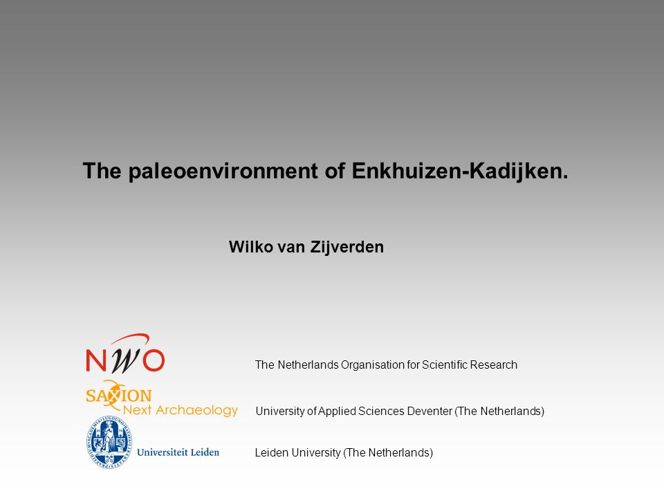 The paleoenvironment of Enkhuizen-Kadijken.