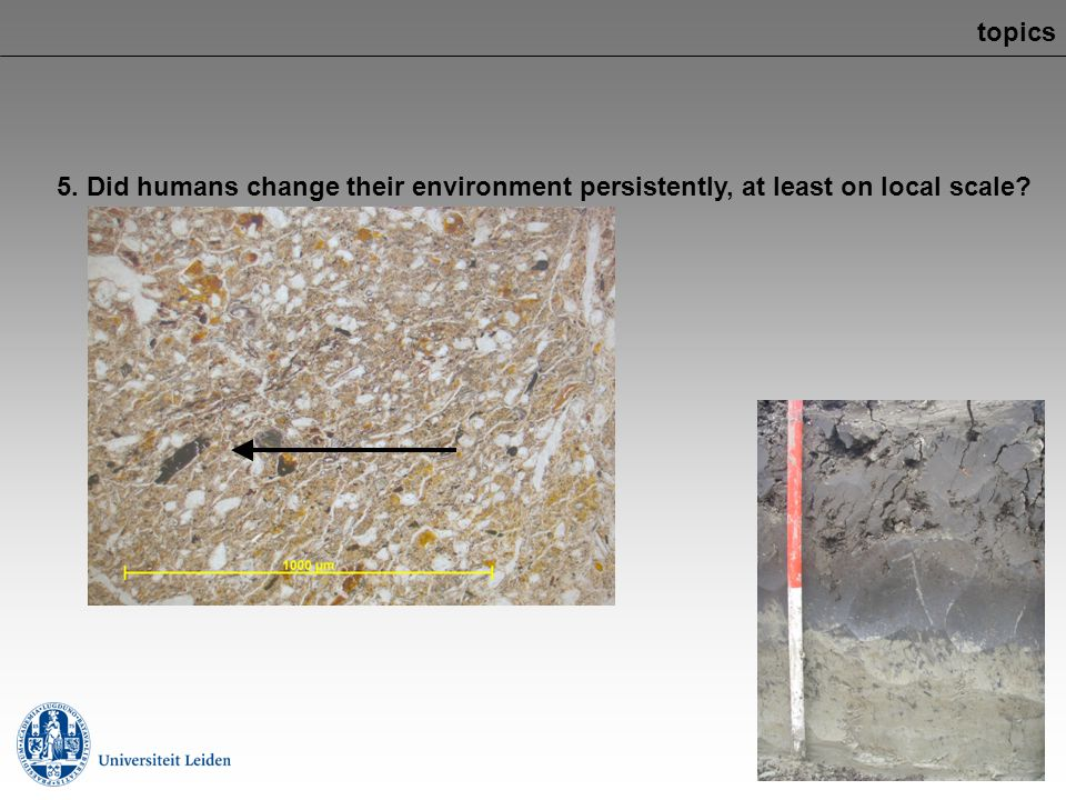 topics 5. Did humans change their environment persistently, at least on local scale