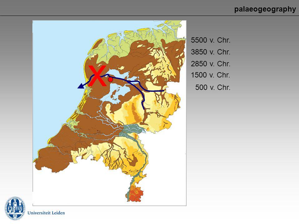 x palaeogeography 5500 v. Chr. 3850 v. Chr. 2850 v. Chr. 1500 v. Chr.