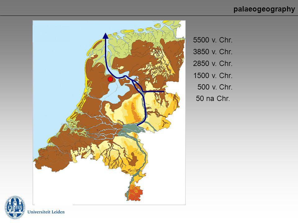 palaeogeography 50 na Chr. 5500 v. Chr. 3850 v. Chr. 2850 v. Chr. 1500 v. Chr. 500 v. Chr.