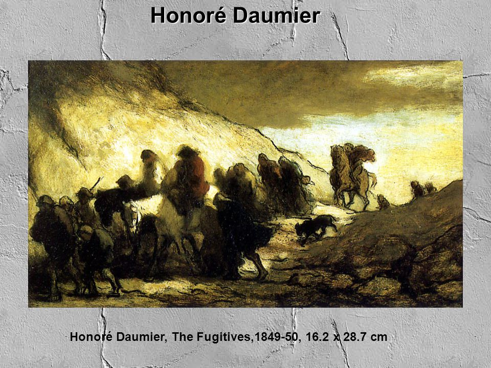 Honoré Daumier, The Fugitives,1849-50, 16.2 x 28.7 cm