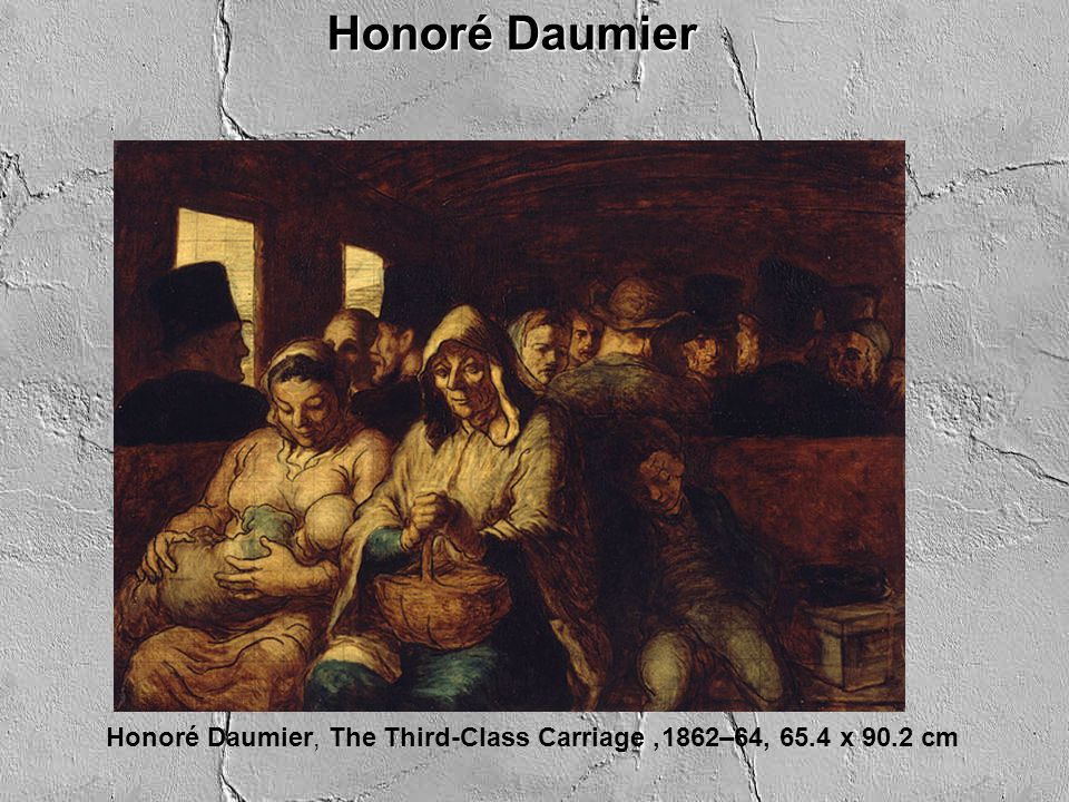 Honoré Daumier Honoré Daumier, The Third-Class Carriage, 1862–64, 65.4 x 90.2 cm