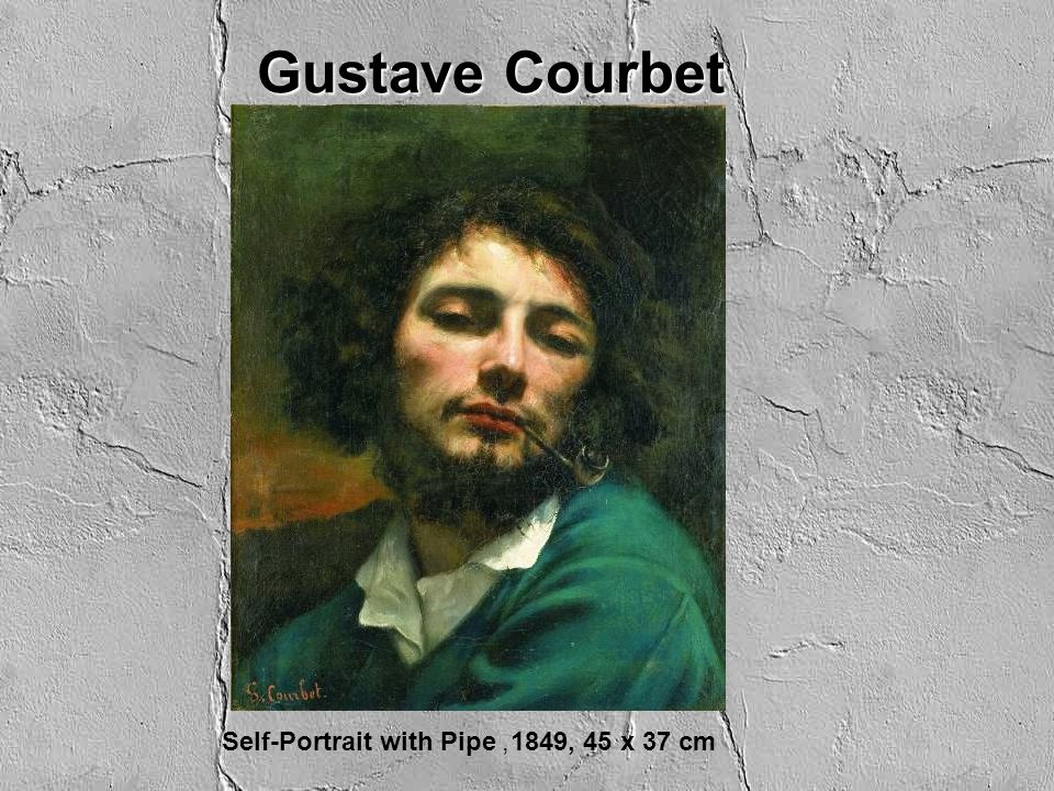 Gustave Courbet Self-Portrait with Pipe, 1849, 45 x 37 cm
