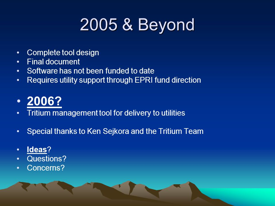 2005 & Beyond 2006 Complete tool design Final document