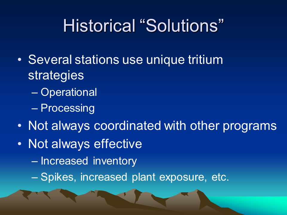 Historical Solutions