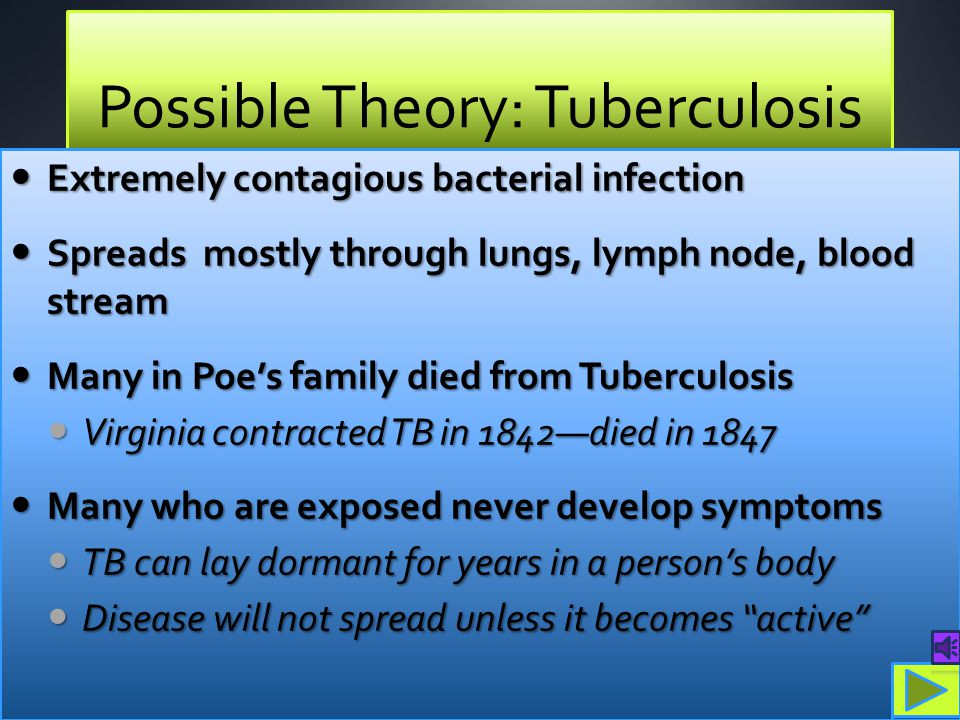 Possible Theory: Tuberculosis