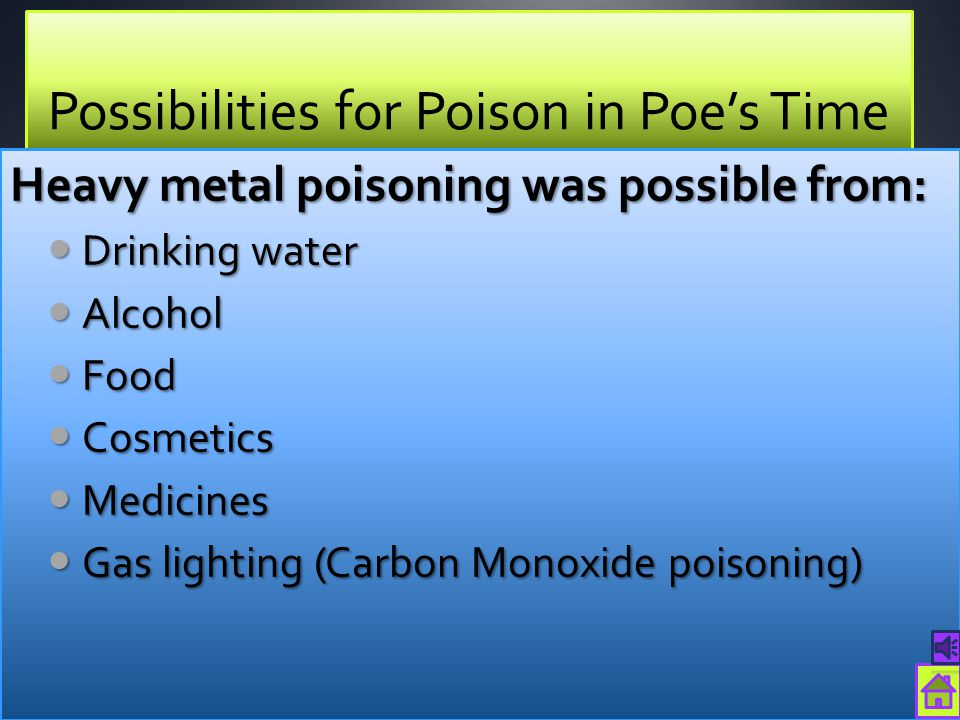 Possibilities for Poison in Poe's Time