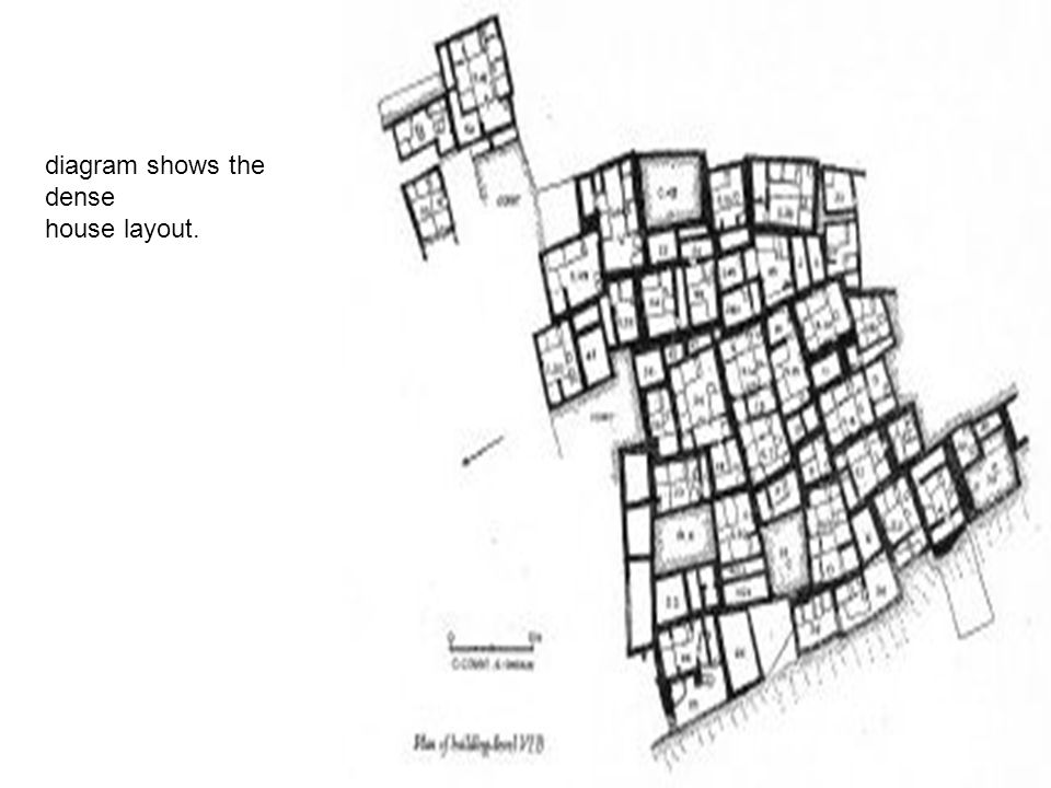 diagram shows the dense house layout.