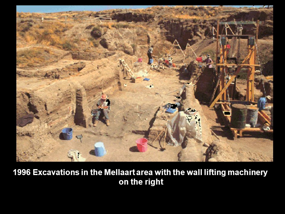 1996 Excavations in the Mellaart area with the wall lifting machinery