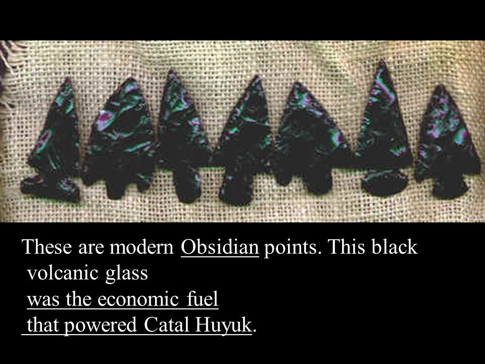These are modern Obsidian points. This black