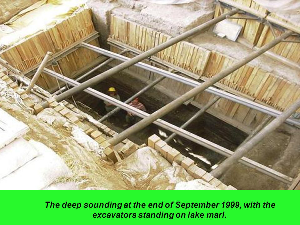 The deep sounding at the end of September 1999, with the