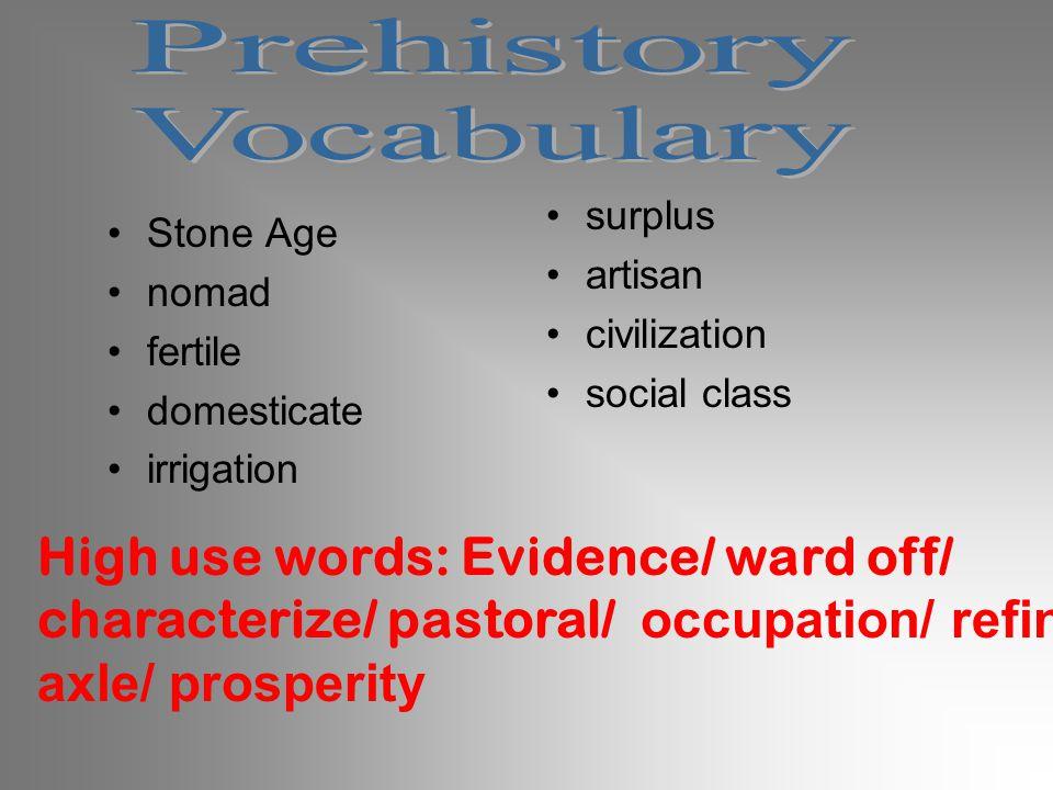 Prehistory Vocabulary