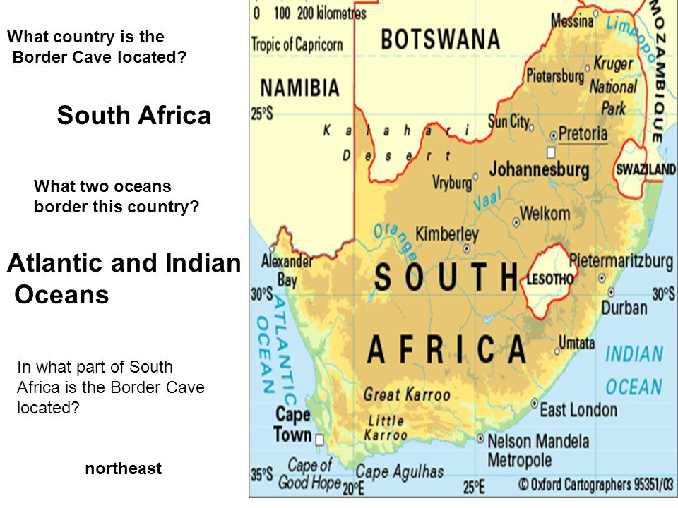 South Africa Atlantic and Indian Oceans What country is the