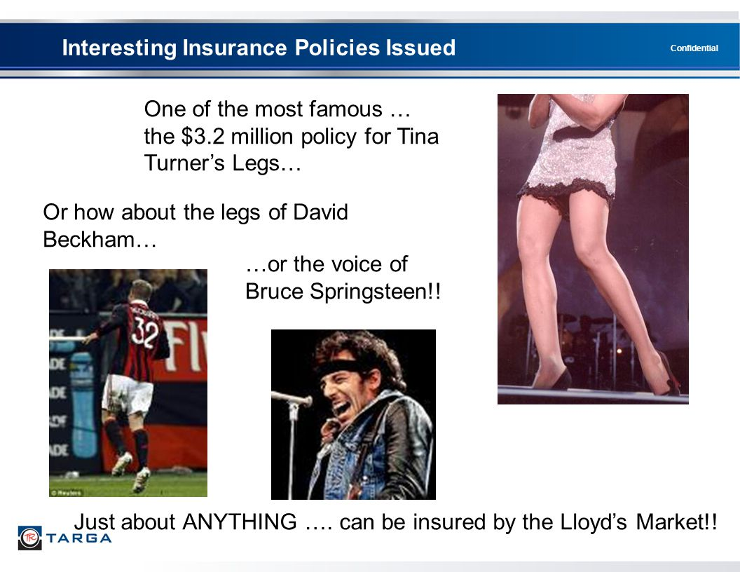 Interesting Insurance Policies Issued
