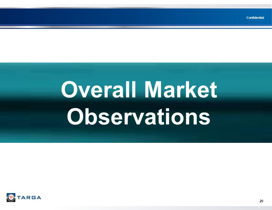 Overall Market Observations