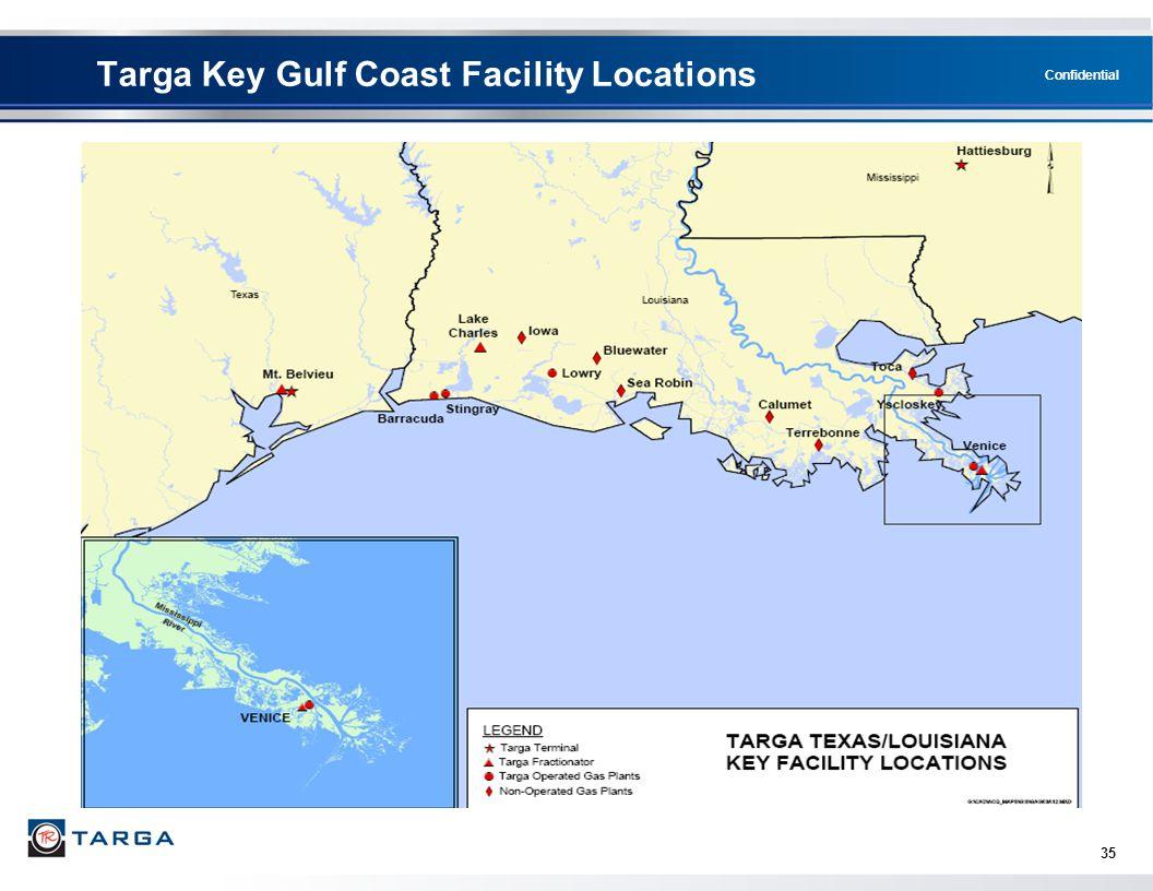 Targa Key Gulf Coast Facility Locations